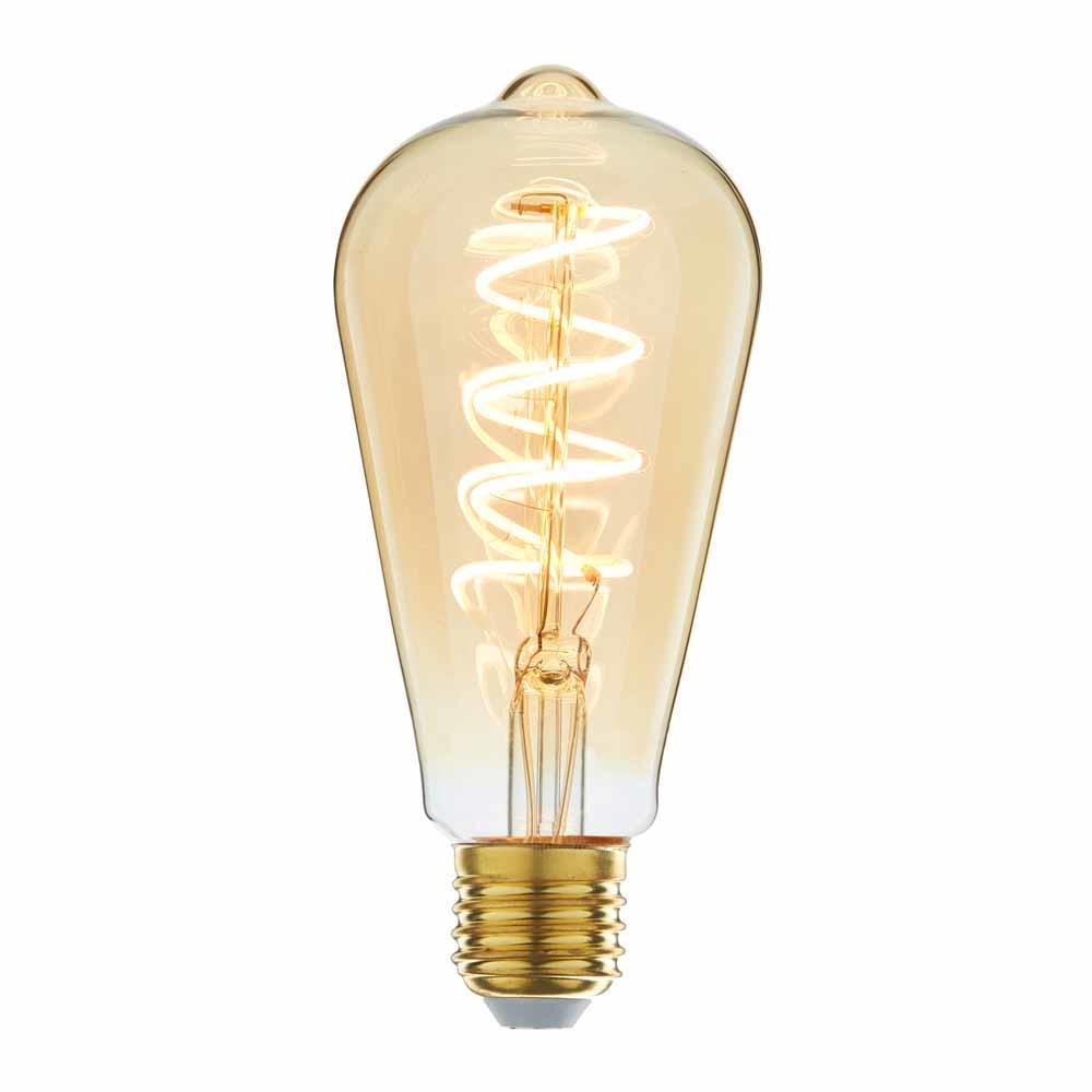 Highlight Lamp LED ST64 4W 180LM 2200K Dimbaar Amber