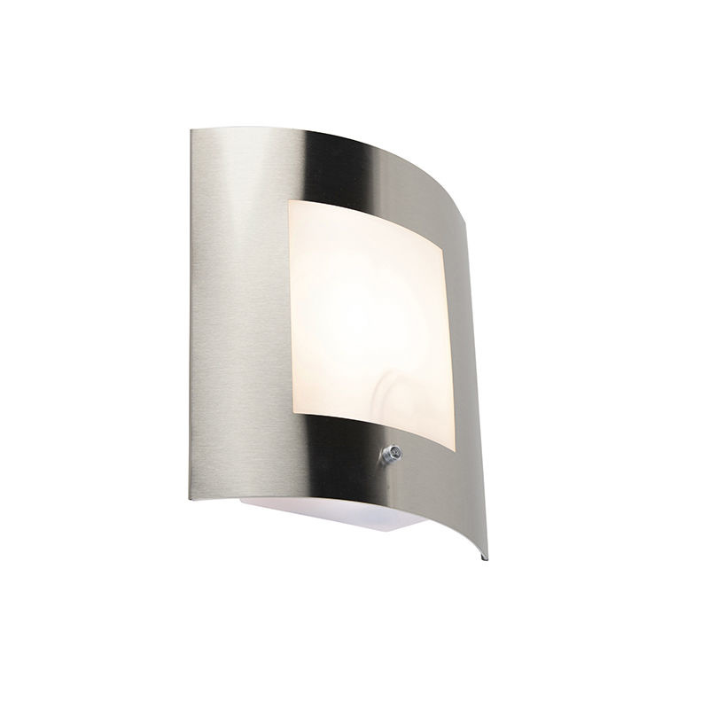 Lamponline Buitenlamp Shade mat chroom dag nacht sensor