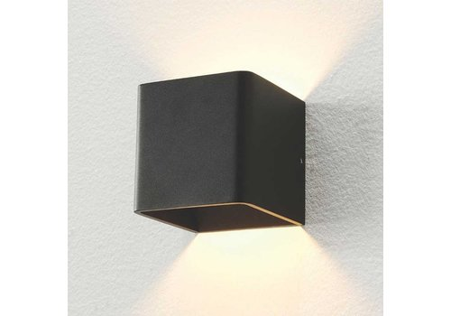 Artdelight Wandlamp Fulda 10x10 cm zwart