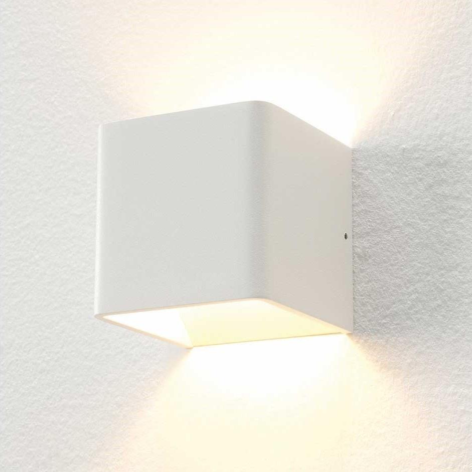Artdelight Wandlamp Fulda 10x10 cm wit