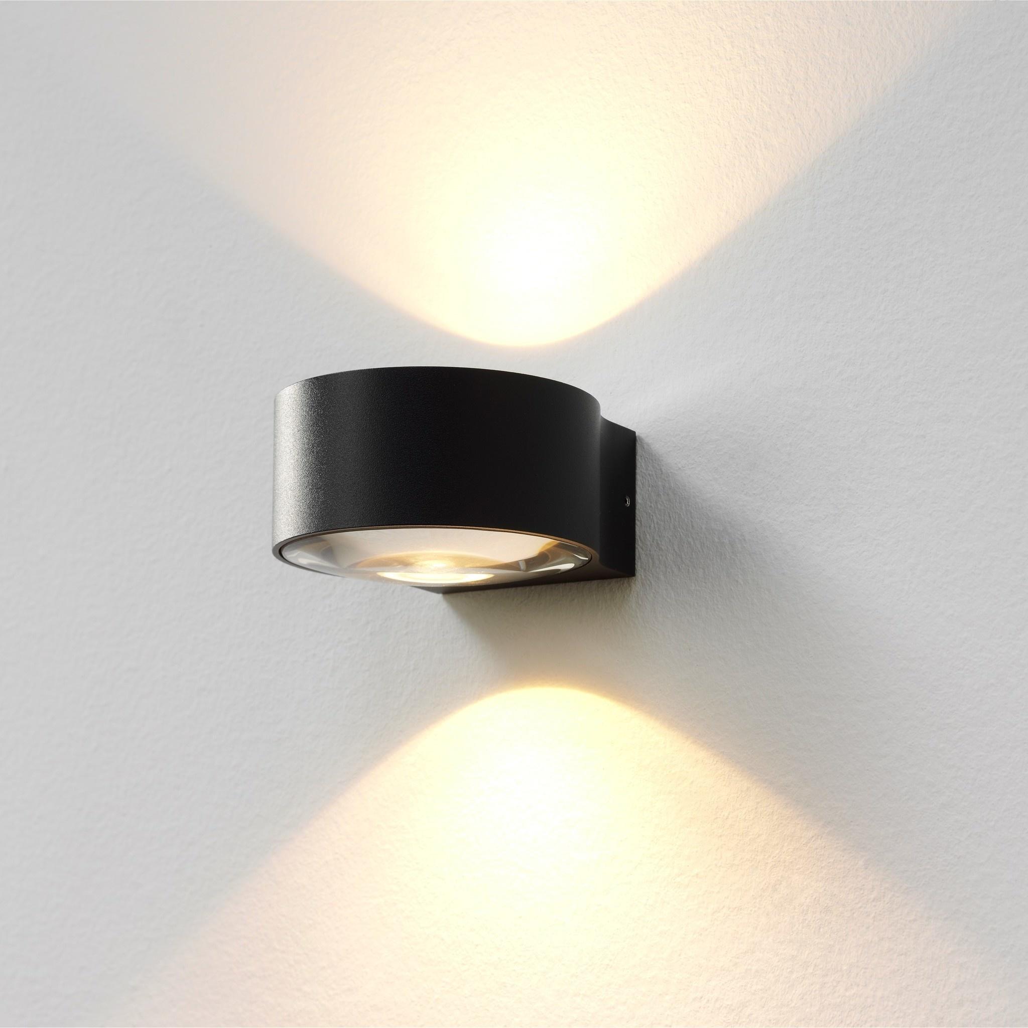 Artdelight Wandlamp Hudson Ø 11 cm antraciet
