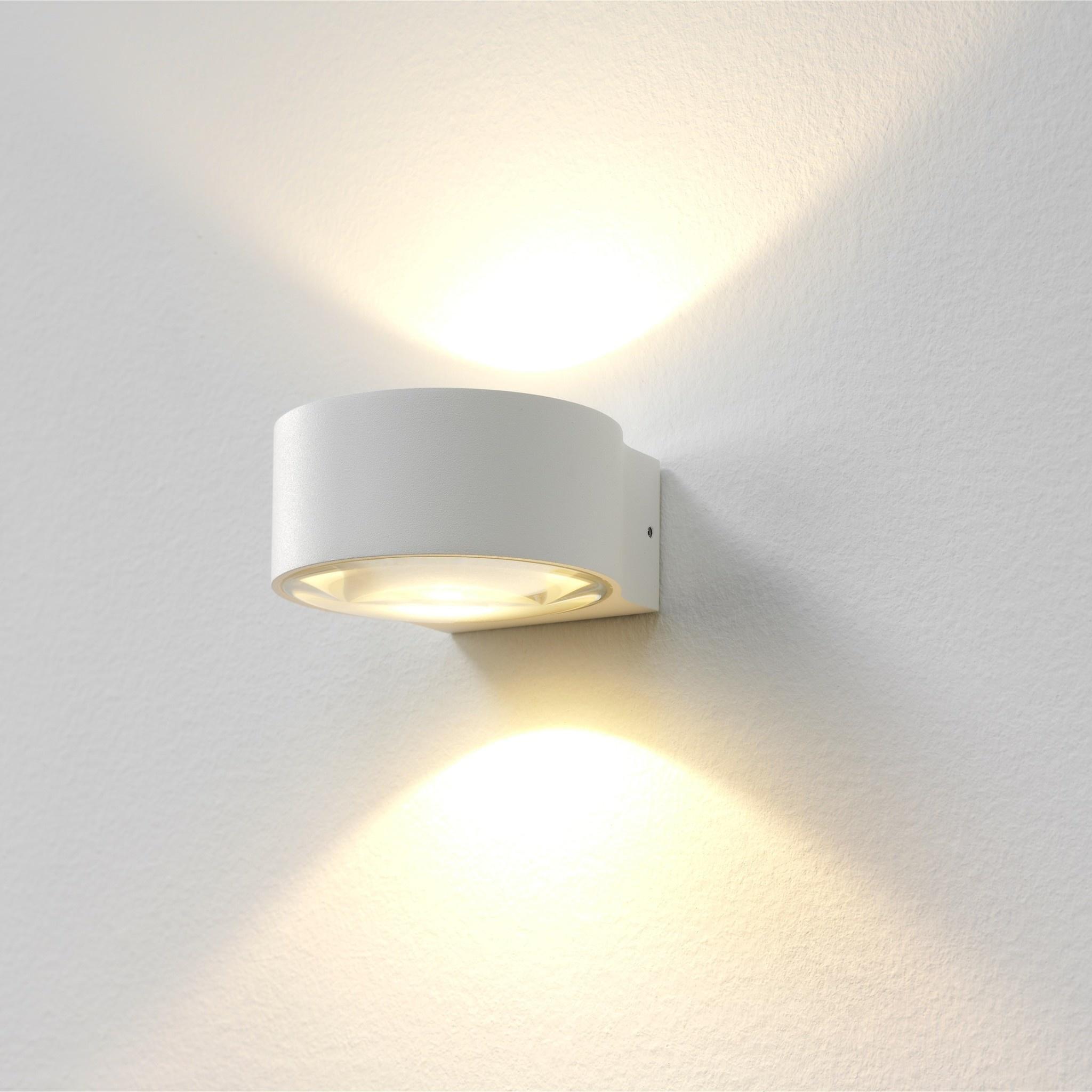 Artdelight Wandlamp Hudson Ø 11 cm wit
