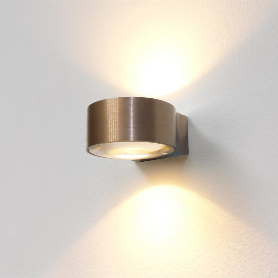 Artdelight Wandlamp Hudson Ø 11 cm licht brons