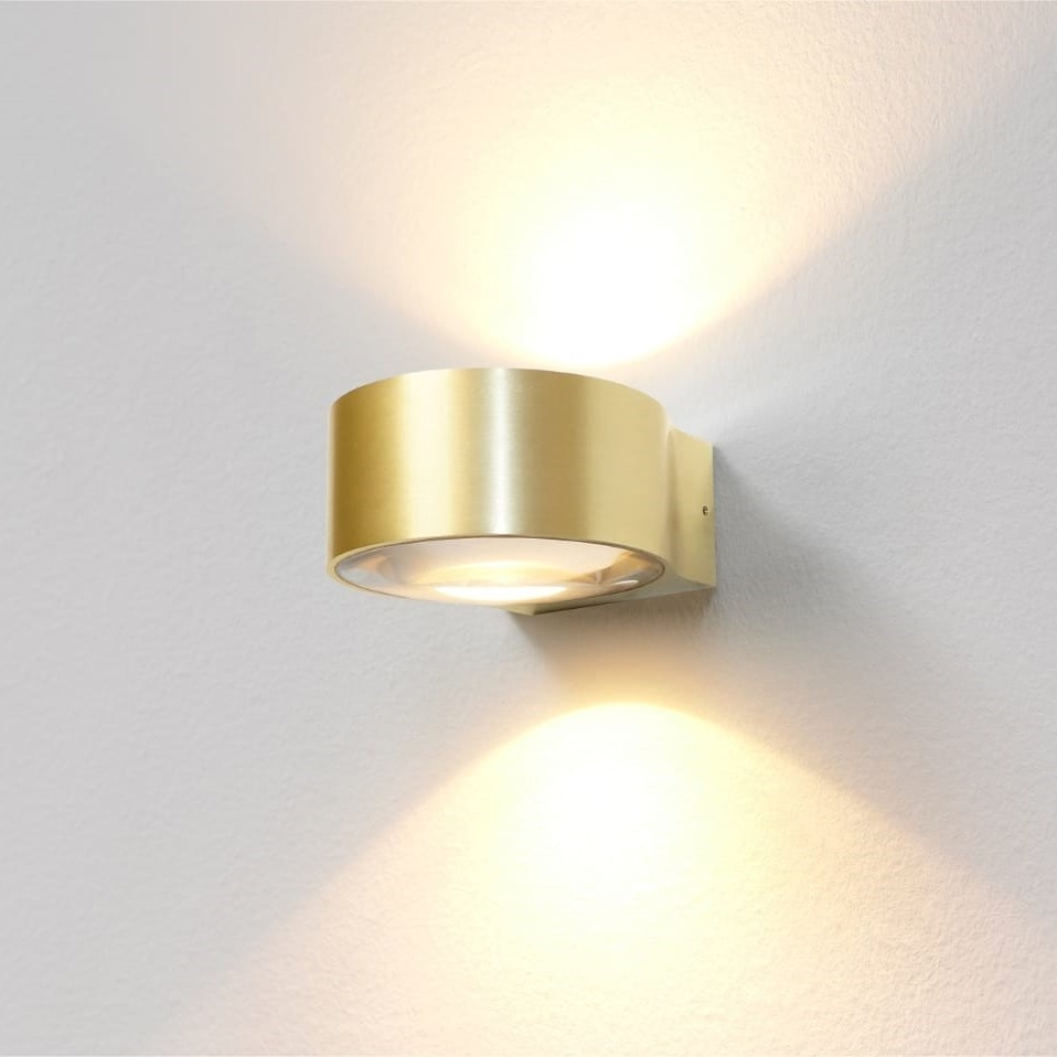 Artdelight Wandlamp Hudson Ø 11 cm mat goud