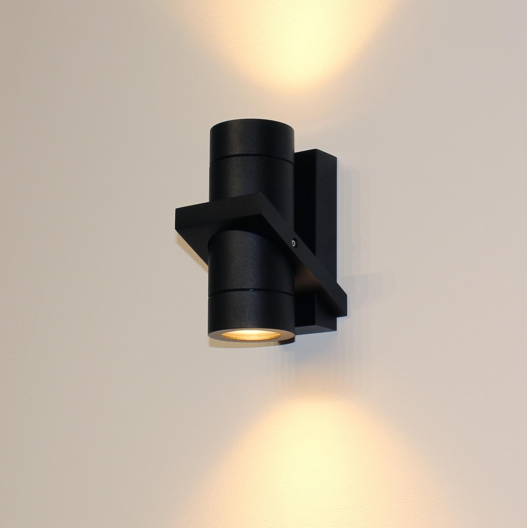 Artdelight Wandlamp Double 16 x 8,5 cm zwart