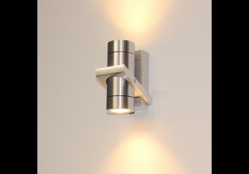 Artdelight Wandlamp Double 16 x 8,5 cm aluminium