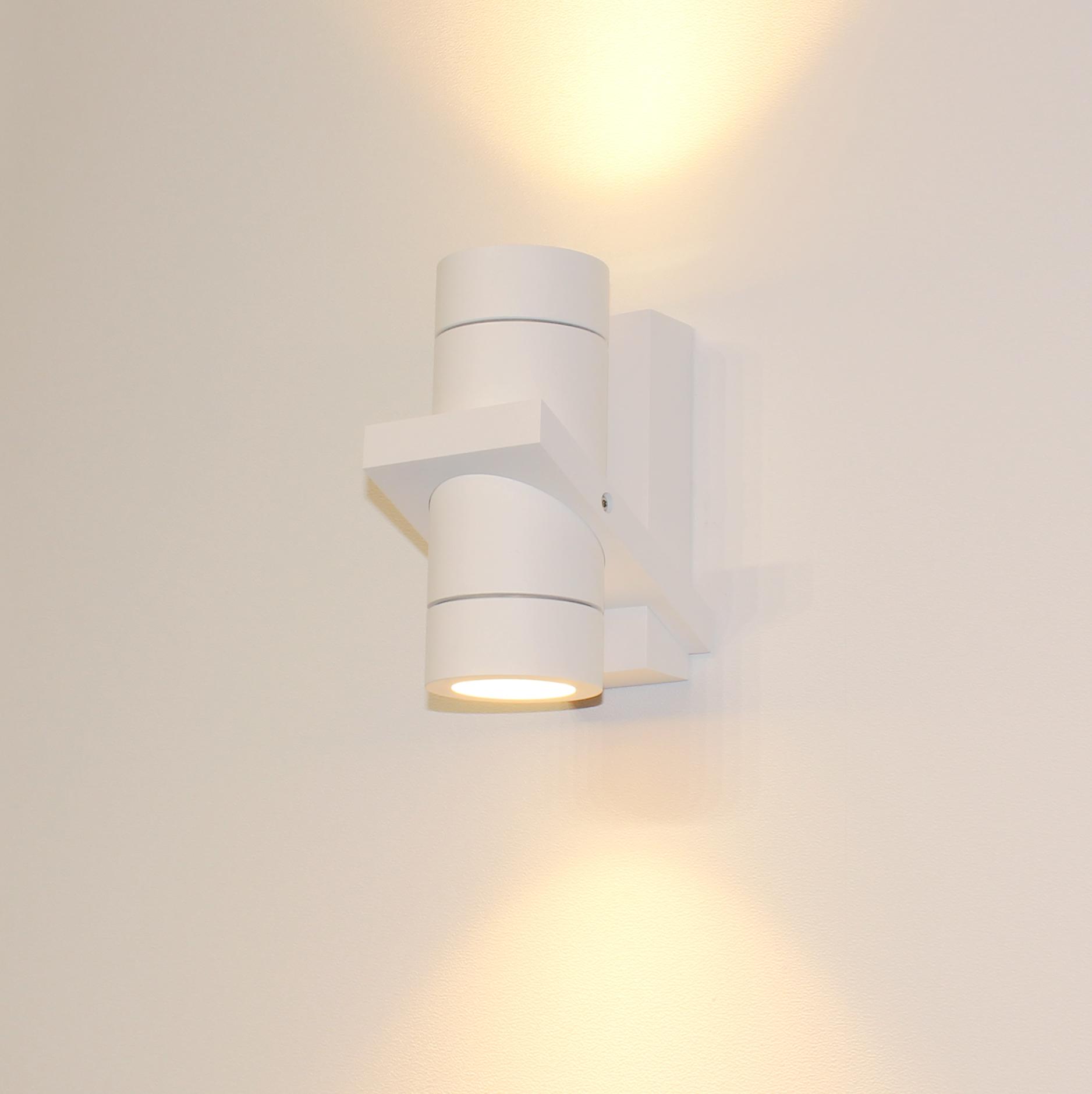 Artdelight Wandlamp Double 16 x 8,5 cm wit