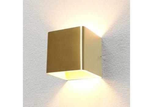 Artdelight Wandlamp Fulda 10x10 cm mat goud