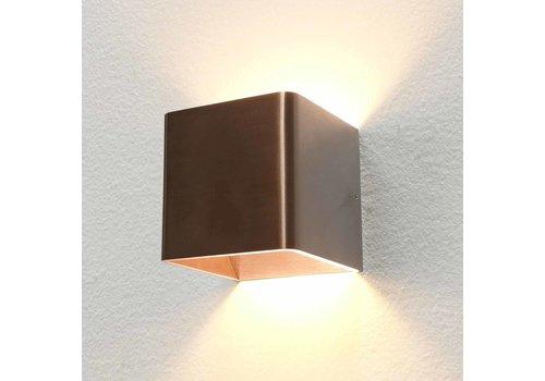 Artdelight Wandlamp Fulda 10x10 cm licht brons