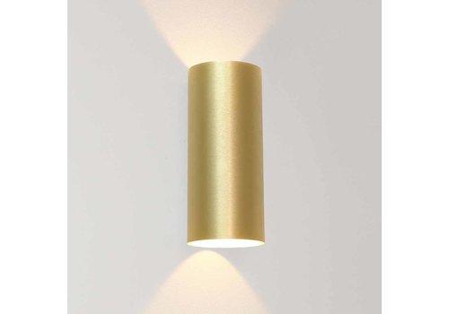 Artdelight Wandlamp Brody 2 lichts H 18 cm mat goud