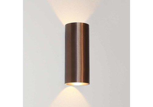 Artdelight Wandlamp Brody 2 lichts H 18 cm licht brons