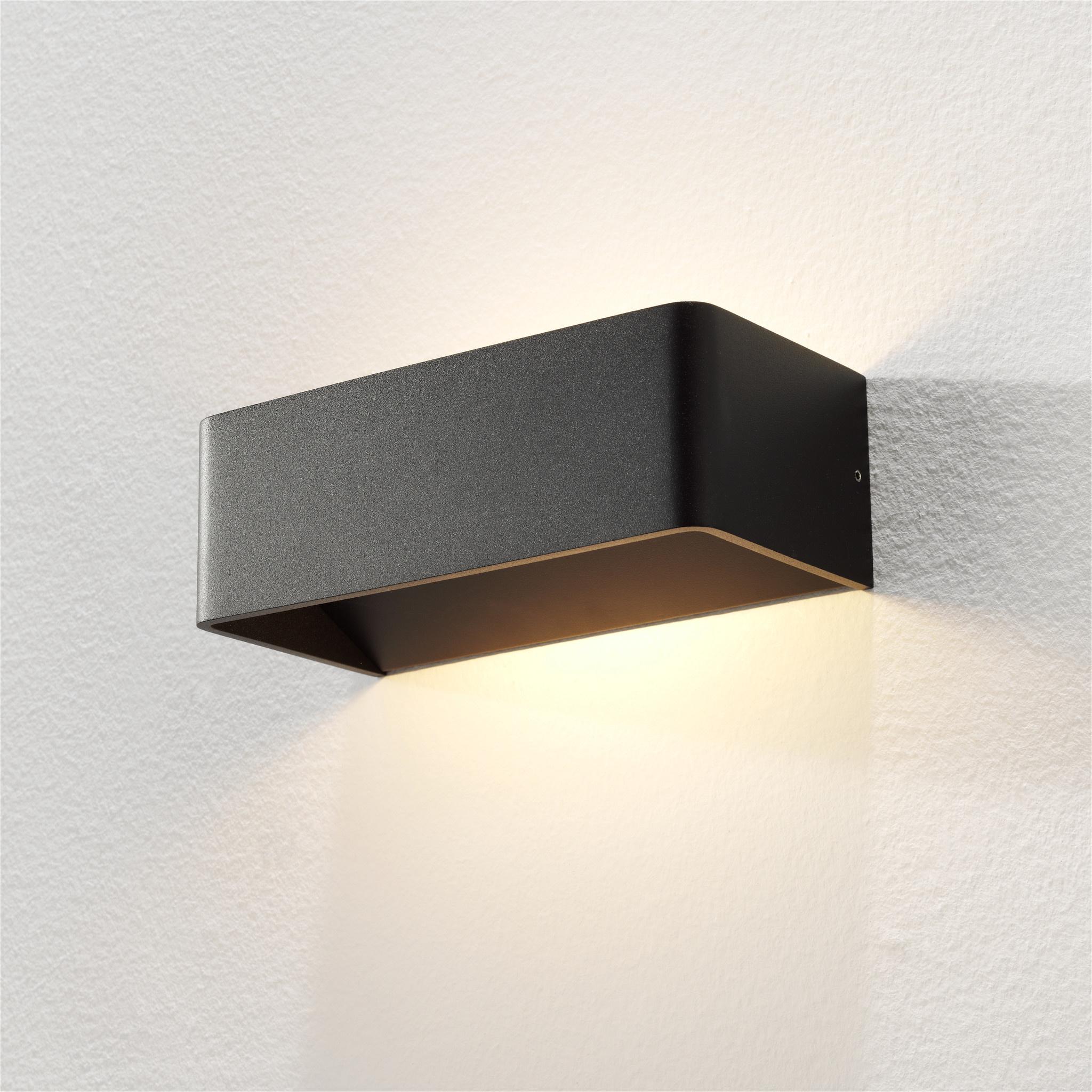 Artdelight Wandlamp Mainz 20 x 7 cm zwart