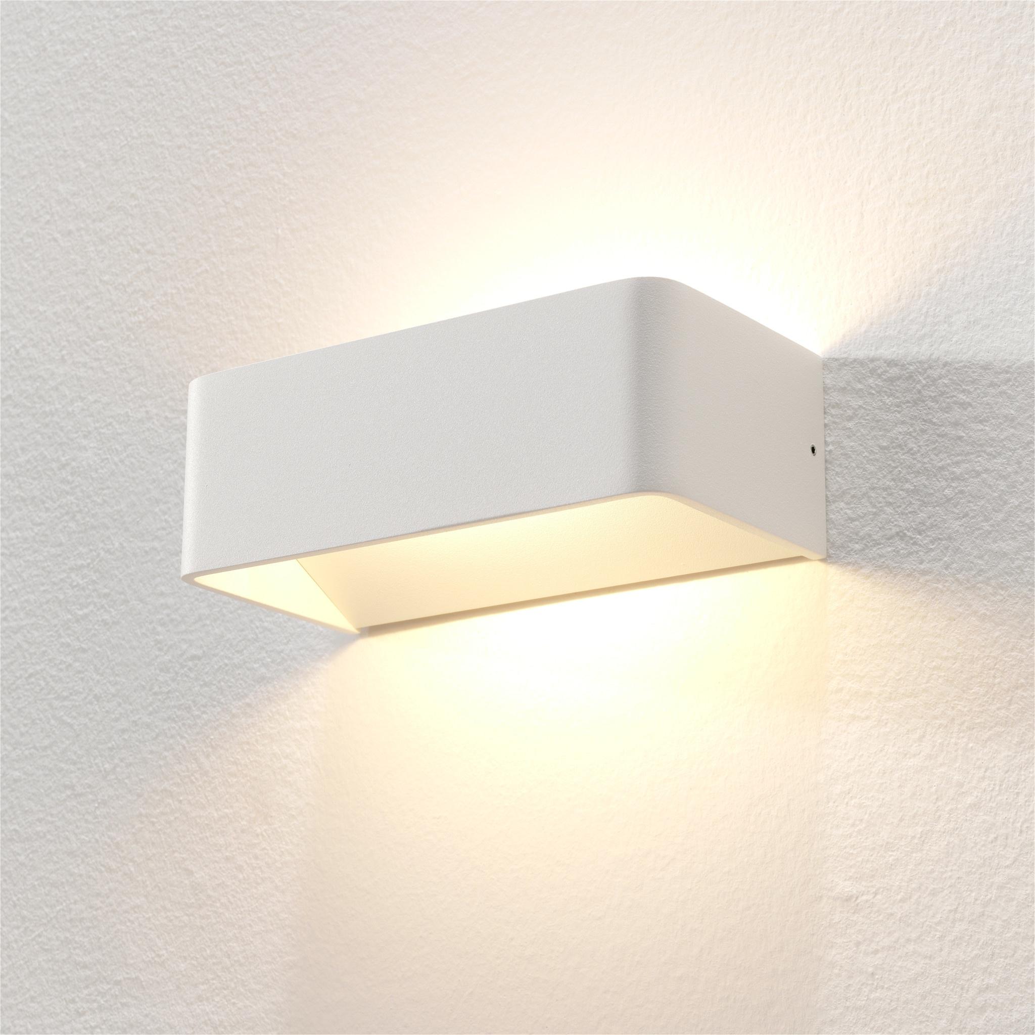 Artdelight Wandlamp Mainz 20 x 7 cm wit