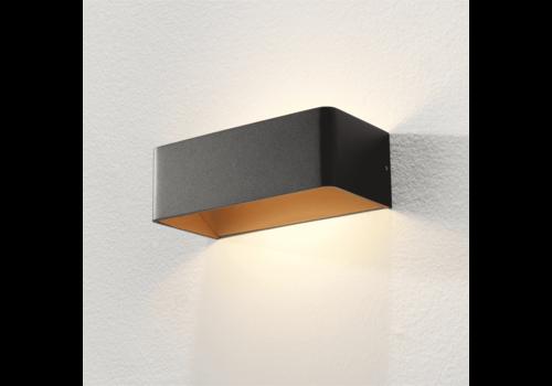 Artdelight Wandlamp Mainz 20 x 7 cm zwart goud