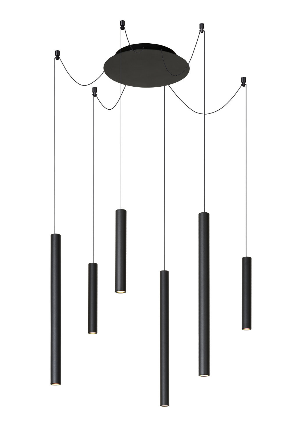 Lucide LORENZ Hanglamp-Zwart-LED Dimb.-0,7W-3000K-Alumin.