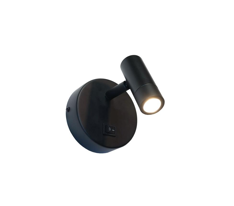 Artdelight Wandlamp Simply zwart