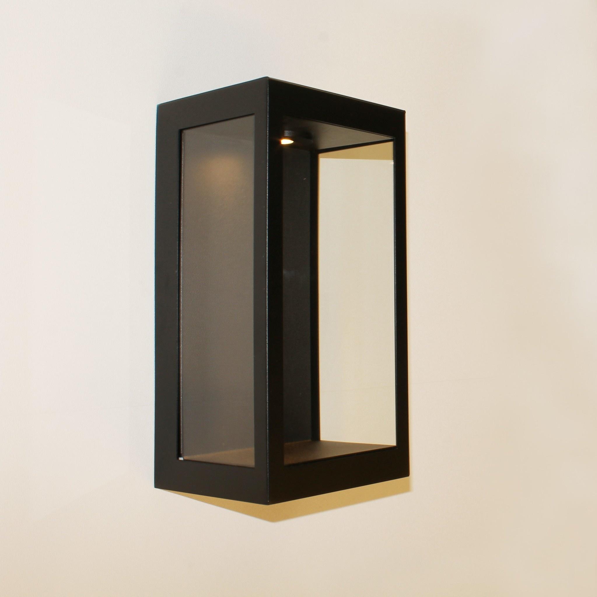 Artdelight Buitenlamp Rowin wand LED H 32 cm zwart