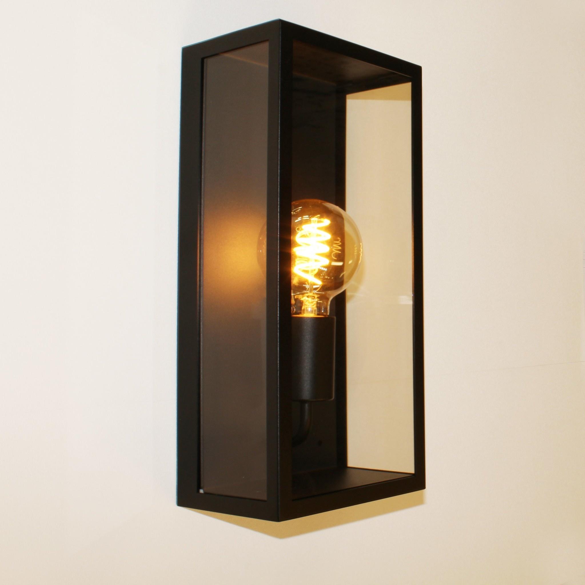 Artdelight Buitenlamp Rowin wand H 35 cm zwart