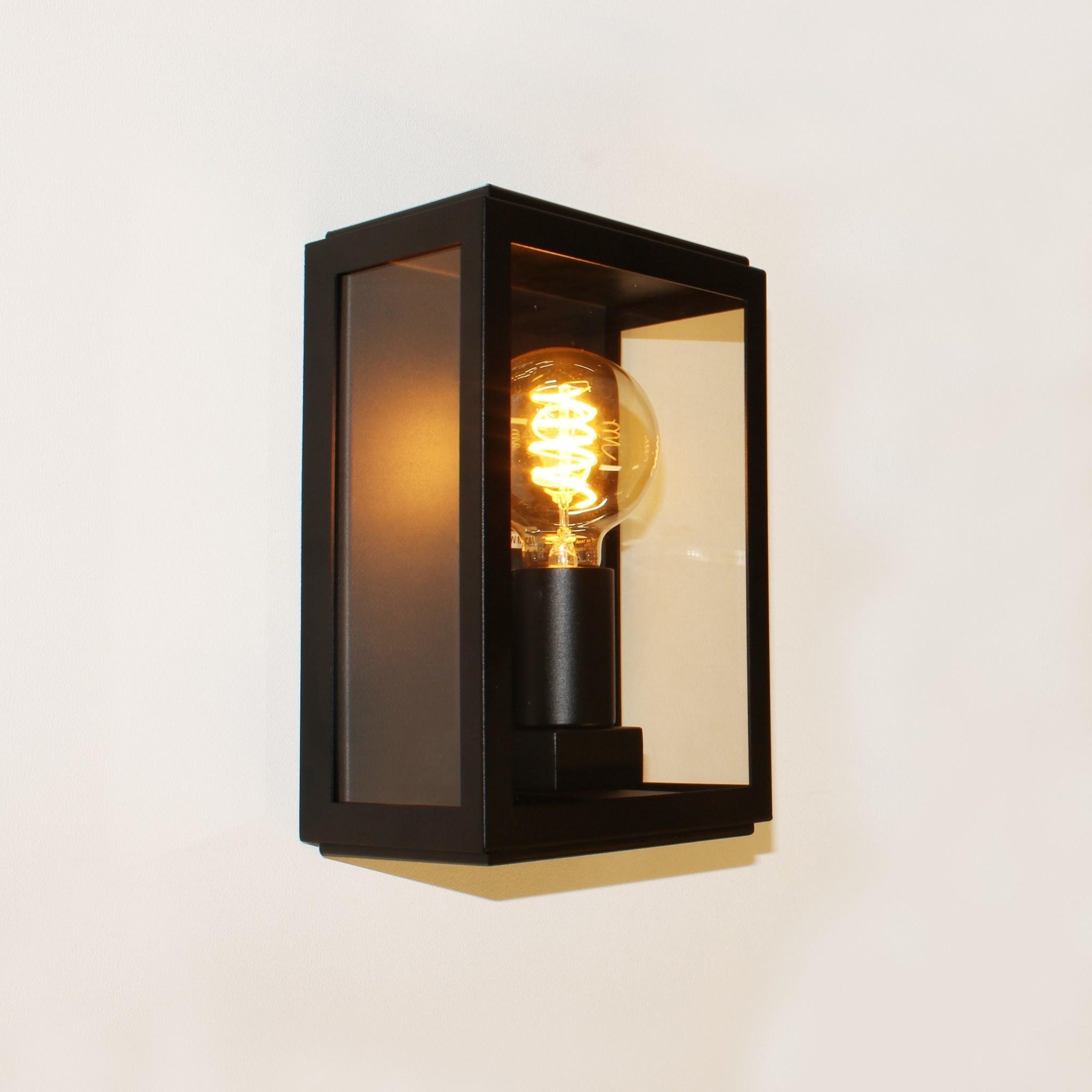 Artdelight Buitenlamp Rowin wand H 25 cm zwart