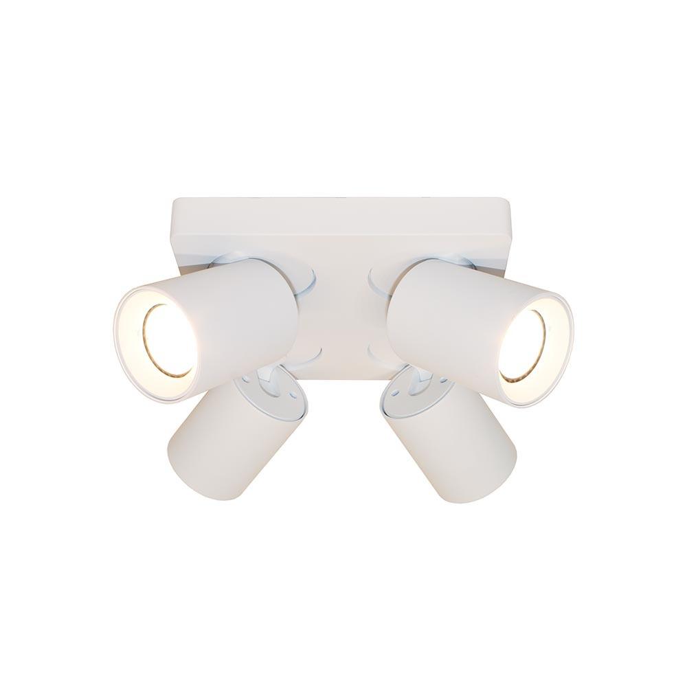 Artdelight Spot Megano 4 lichts vierkant wit