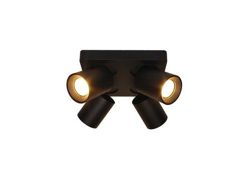 Artdelight Spot Megano 4 lichts vierkant zwart