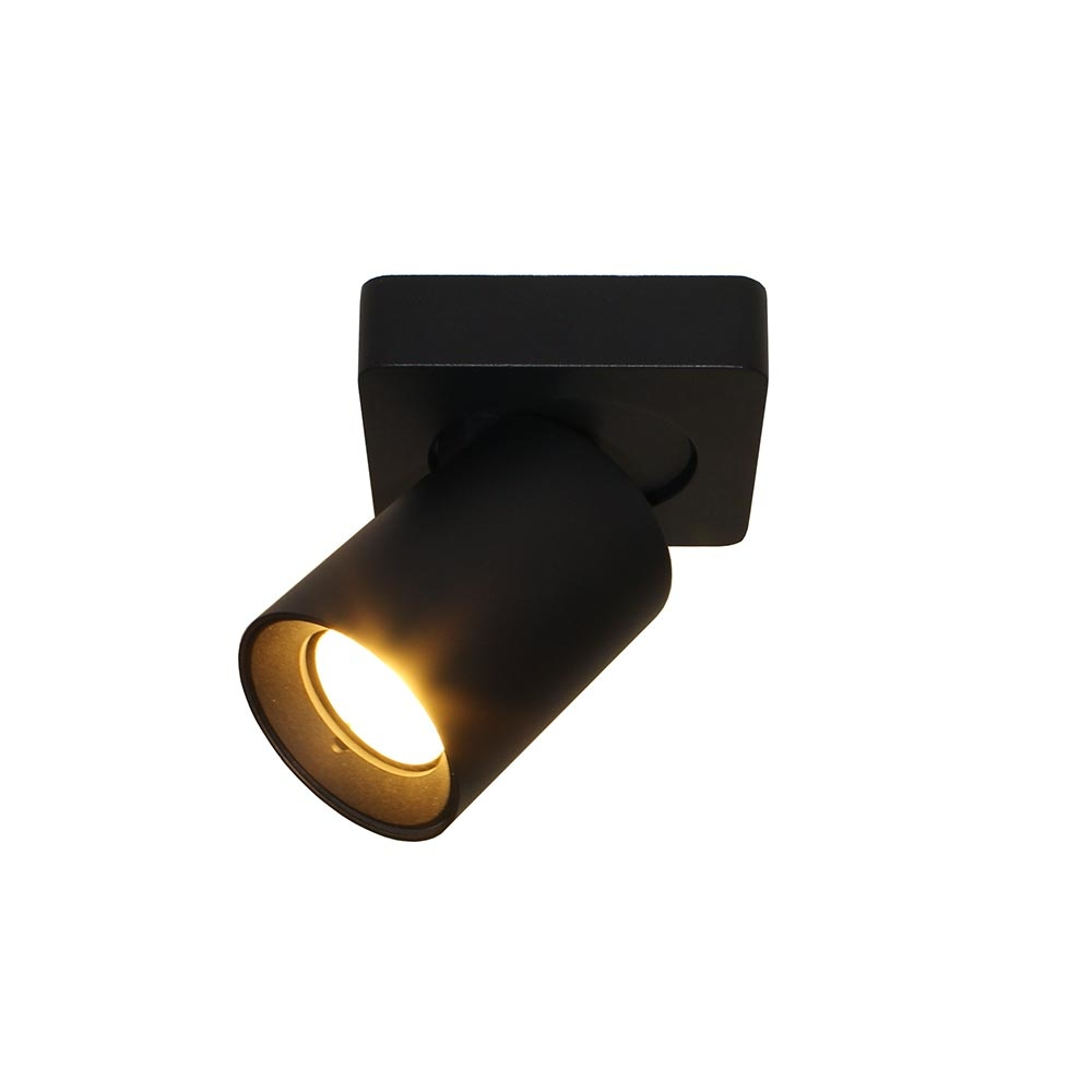 Artdelight Spot Megano 1 lichts zwart