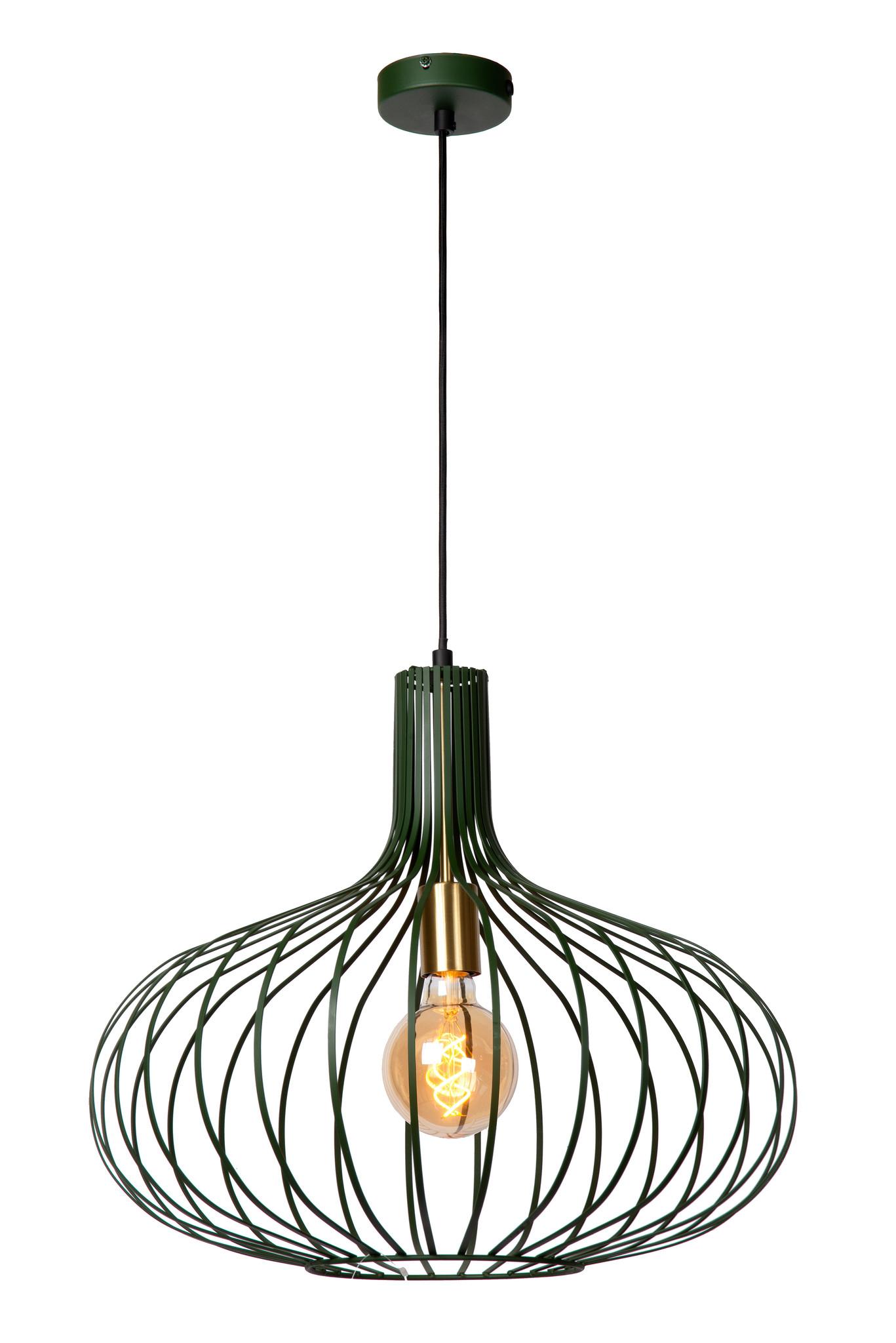 Lucide MANUELA Hanglamp-Groen-Ø65-1xE27-60W-Metaal