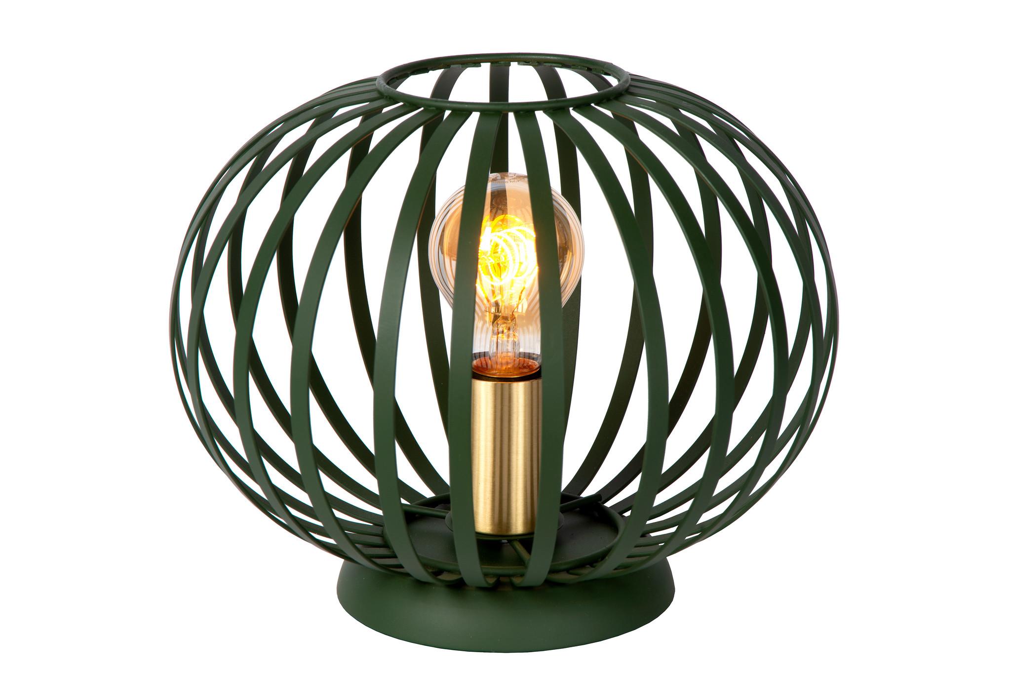 Lucide MANUELA Tafellamp-Groen-Ø25,5-1xE27-40W-Metaal