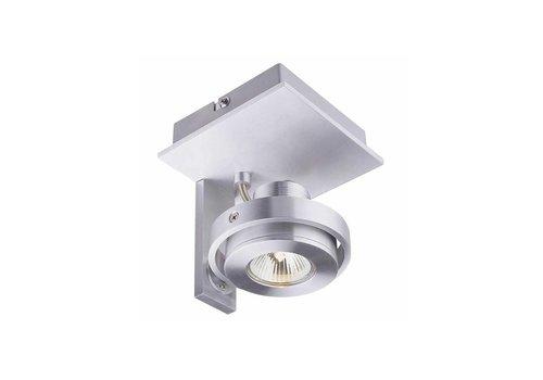 Artdelight Spot Meist 1 lichts aluminium
