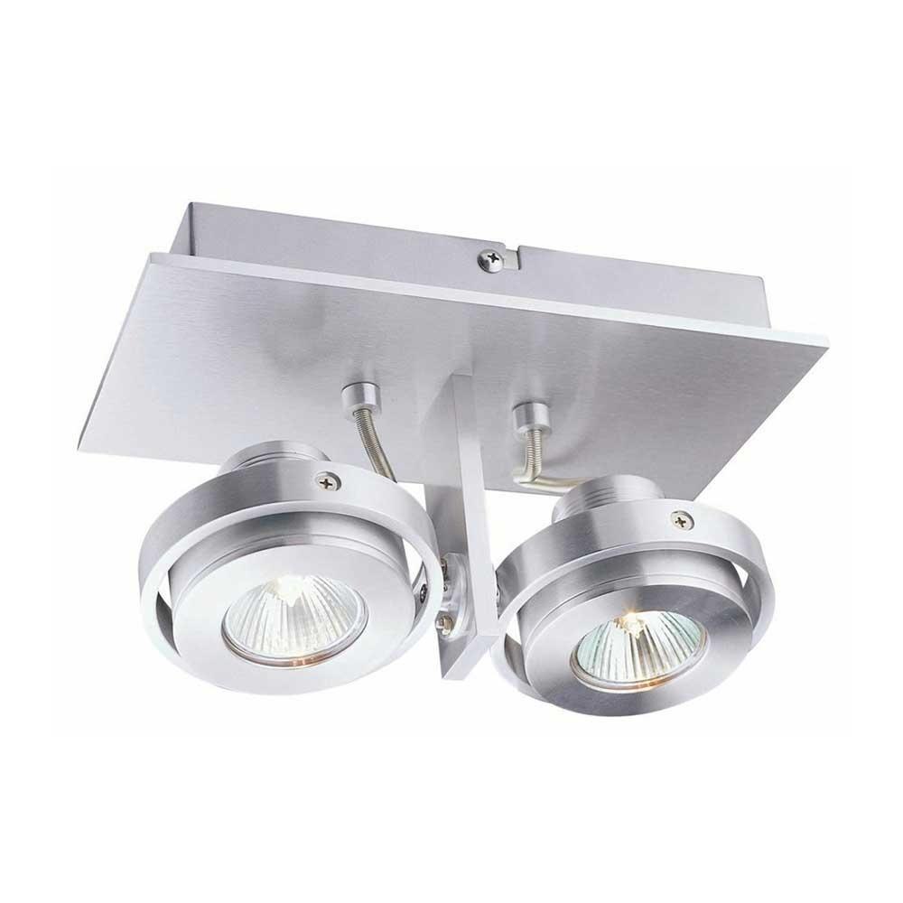 Artdelight Spot Meist 2 lichts aluminium