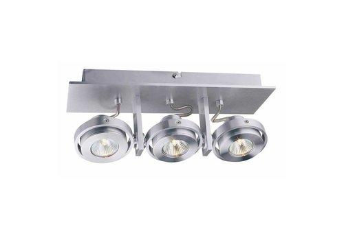 Artdelight Spot Meist 3 lichts aluminium