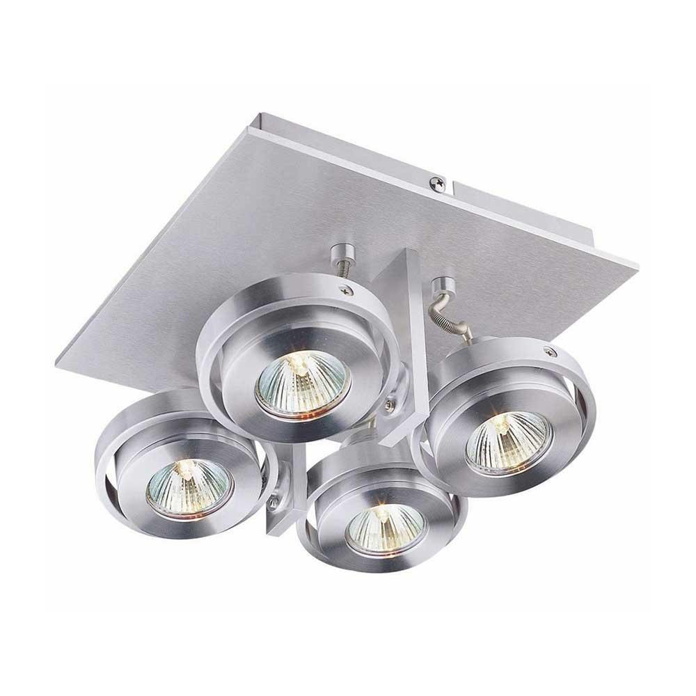 Artdelight Spot Meist 4 lichts vierkant aluminium