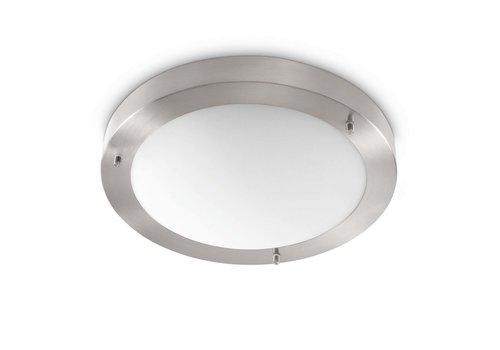 Artdelight Plafondlamp Yuca Ø 30 cm 12 Watt mat chroom