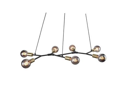 Nordlux Hanglamp Josefine 7 lichts L 91 cm goud zwart