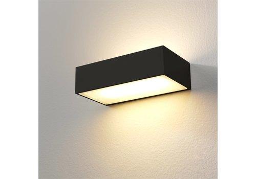 Artdelight Wandlamp Eindhoven L 18 cm zwart