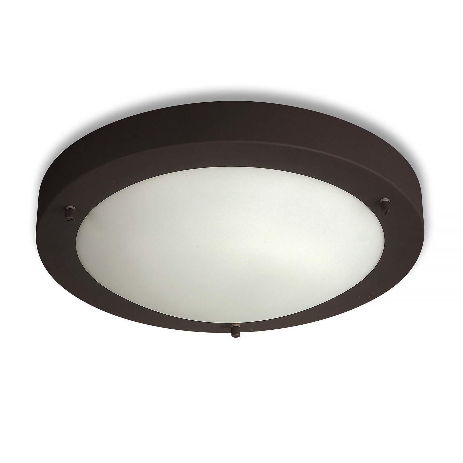 Artdelight Plafondlamp Yuca Ø 30 cm 12 Watt zwart