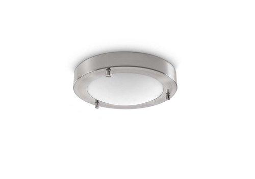 Artdelight Plafondlamp Yuca Ø 18 cm 10 Watt mat chroom
