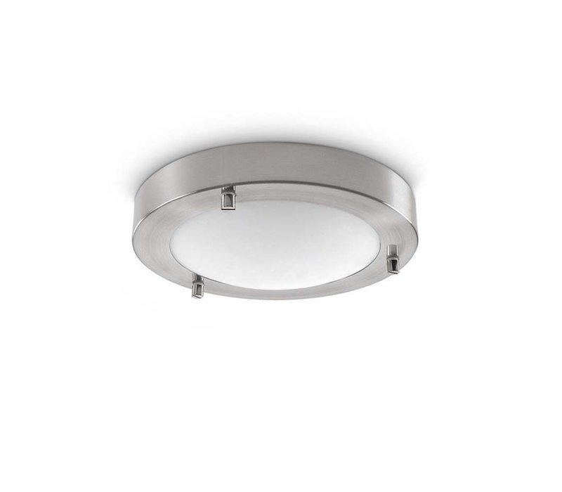 Plafondlamp Yuca Ø 18 cm 10 Watt mat chroom