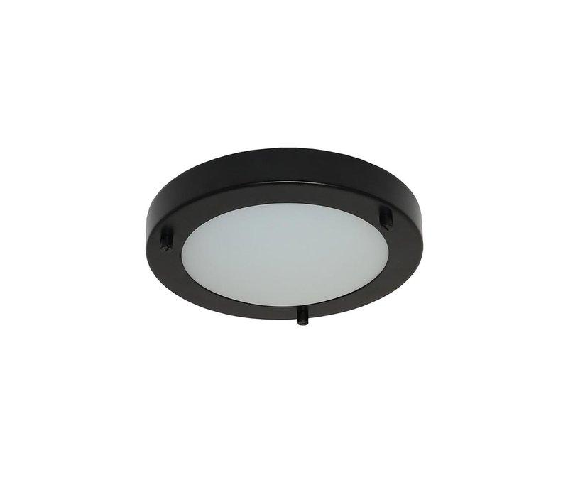 Plafondlamp Yuca Ø 18 cm 10 Watt zwart