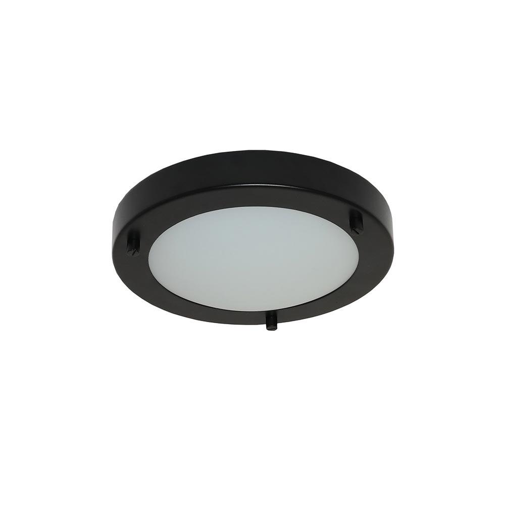 Artdelight Plafondlamp Yuca Ø 18 cm 10 Watt zwart