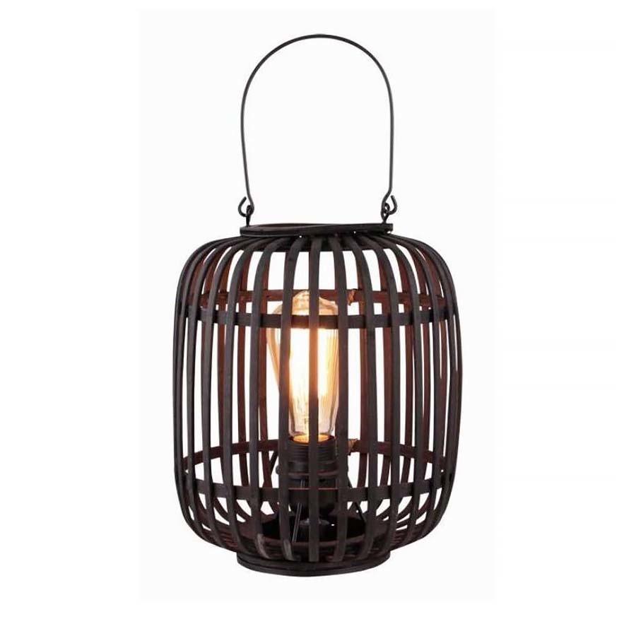 Freelight Tafellamp Treccia Rotan H 26 cm zwart