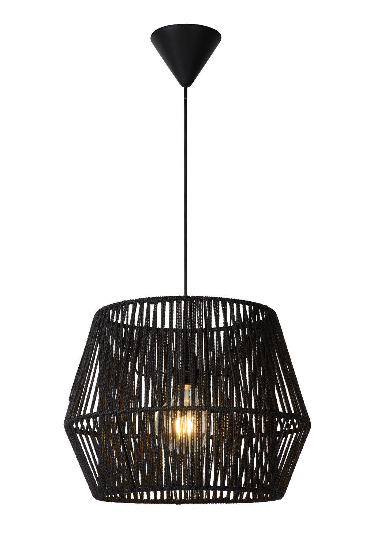 Lucide CORDO Hanglamp-Zwart-Ø40-1xE27-60W-Papier