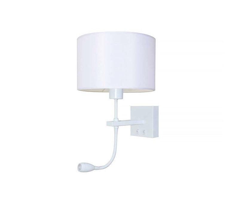 Wandlamp Quad incl. kap Ø  20 cm wit