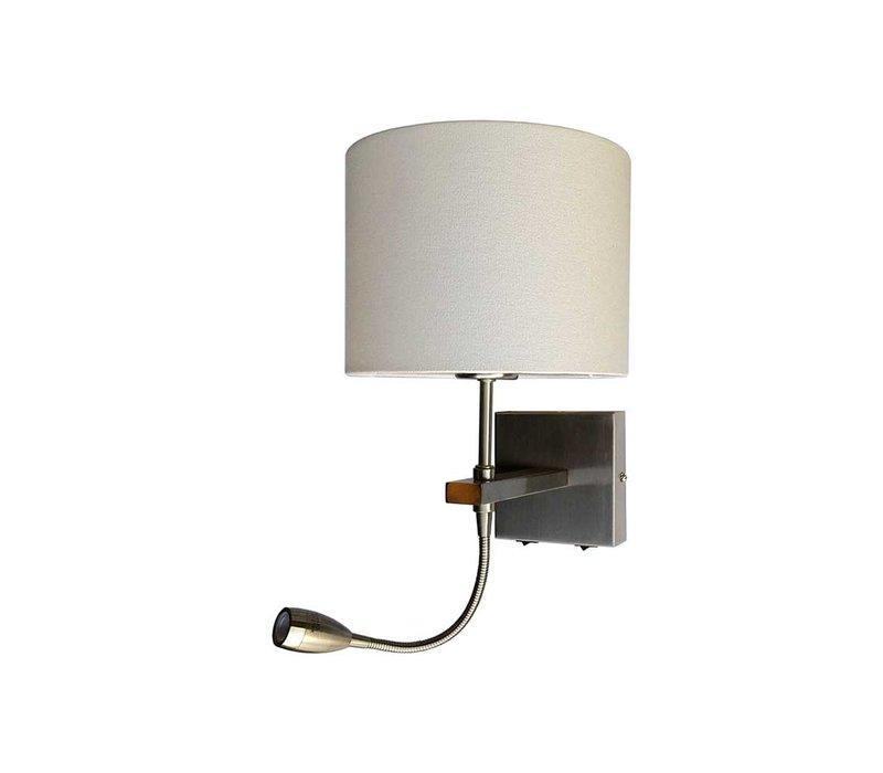Wandlamp Quad incl. kap Ø  20 cm mat chroom