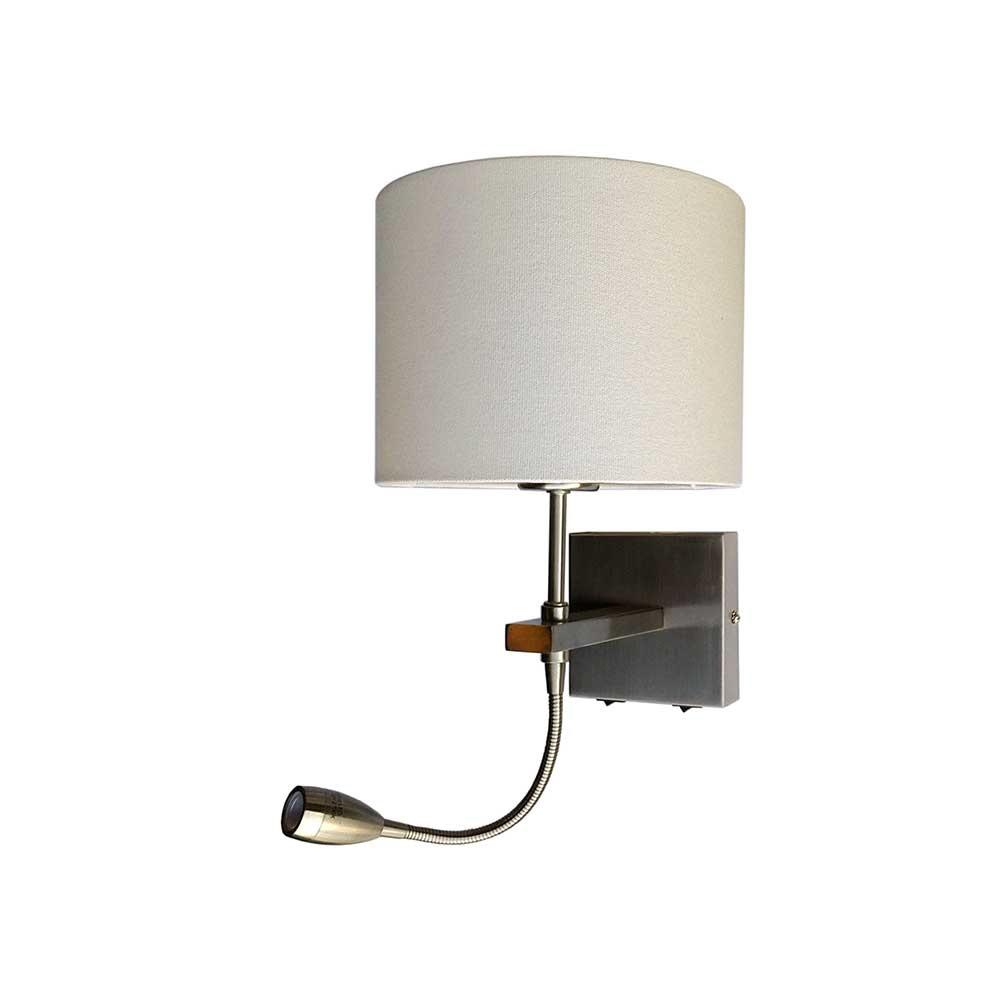 Artdelight Wandlamp Quad incl. kap Ø 20 cm mat chroom