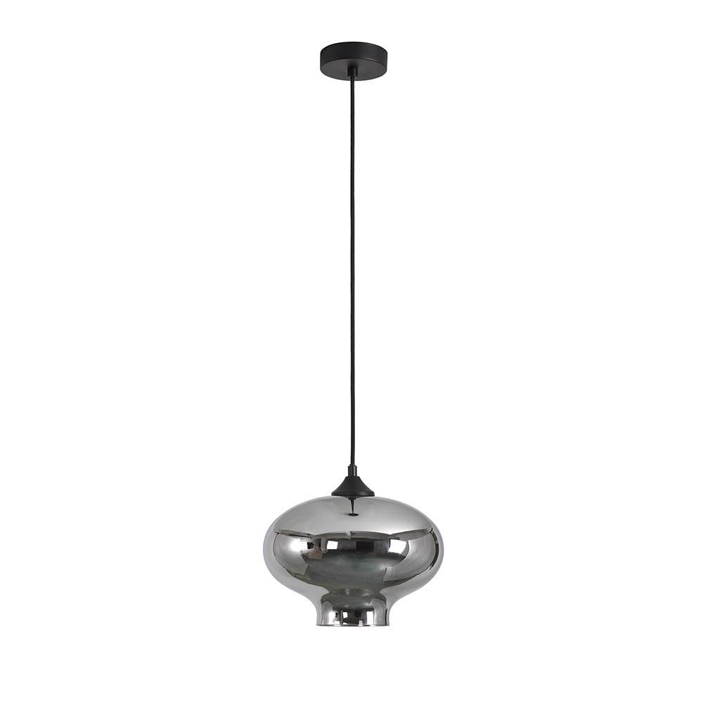 Artdelight Hanglamp Toronto Ø 27 cm rook glas zwart