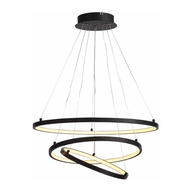 Freelight Hanglamp Dione Ø 60 cm zwart