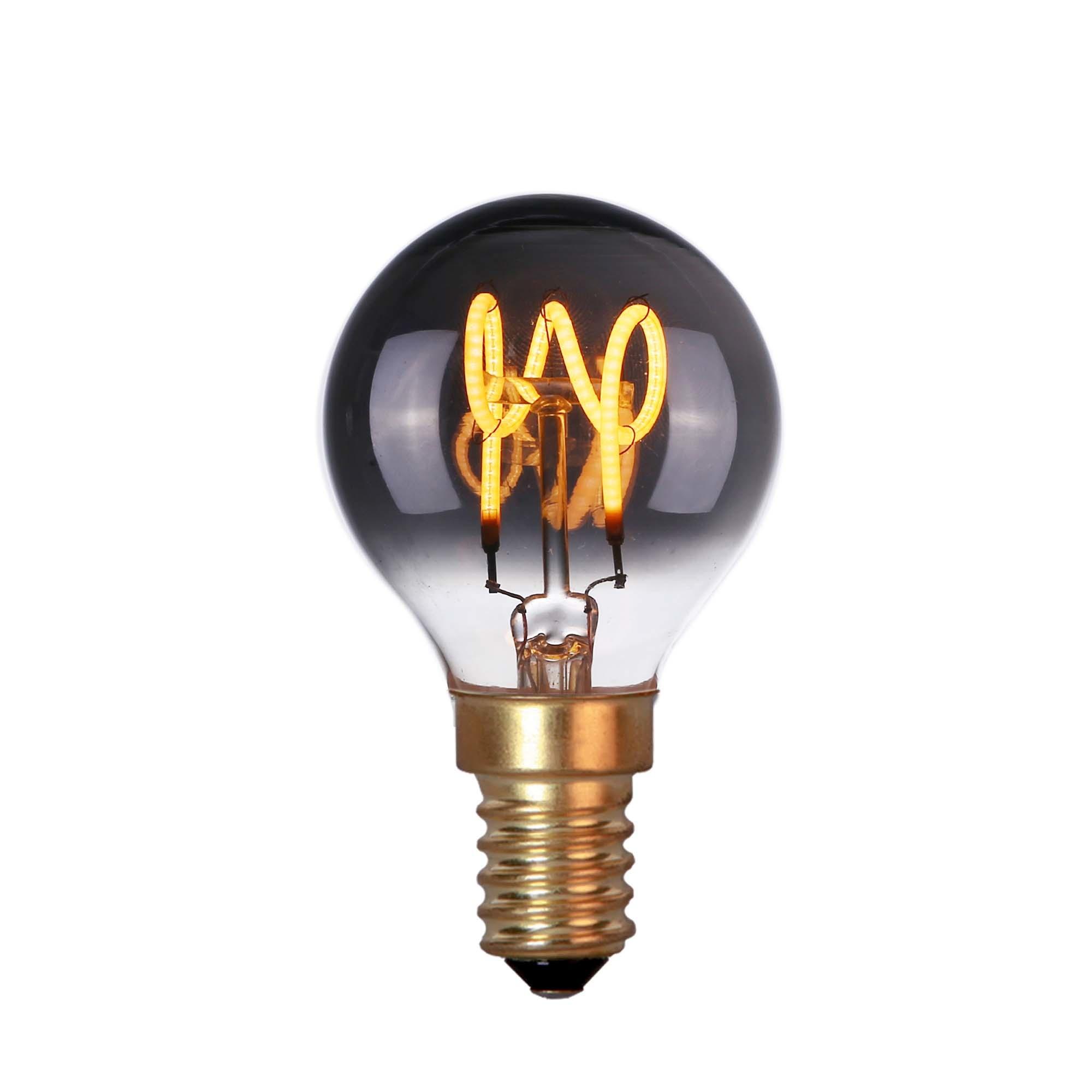 Highlight Lamp LED E14 kogel 4W 60 LM 2200K Dimbaar rook