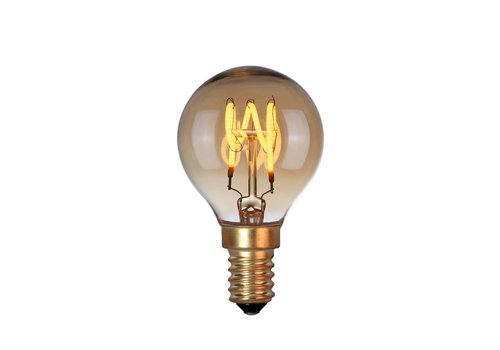 Highlight Lamp LED E14 kogel 4W 120 LM 2200K Dimbaar amber