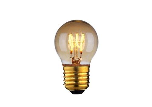 Highlight Lamp LED E27 kogel 4W 60 LM 2200K Dimbaar amber